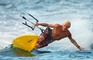 Clive Neeson Kite Surfng 2012